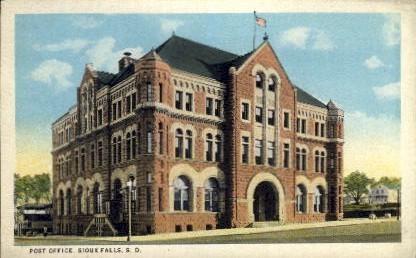 Post Office - Sioux Falls, South Dakota SD Postcard