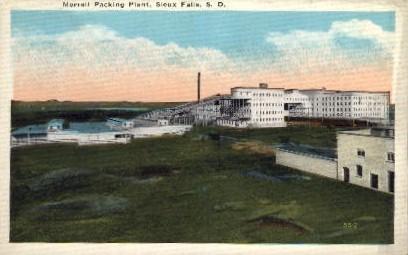 Morrell Packing Plant - Sioux Falls, South Dakota SD Postcard