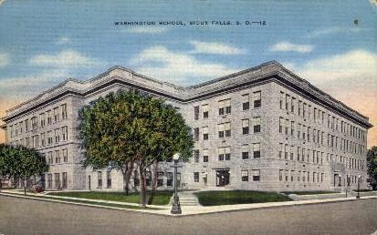 Washington High School - Sioux Falls, South Dakota SD Postcard
