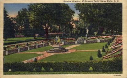 Sunken Garden, McKennan Park - Sioux Falls, South Dakota SD Postcard