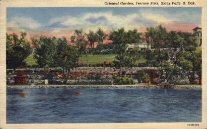 Oriental Garden, Terrace Park - Sioux Falls, South Dakota SD Postcard