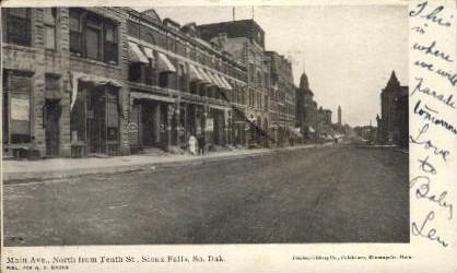 Main Ave. - Sioux Falls, South Dakota SD Postcard