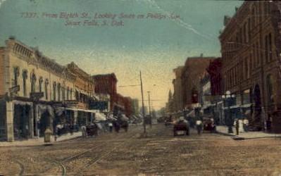 Eighth St. - Sioux Falls, South Dakota SD Postcard
