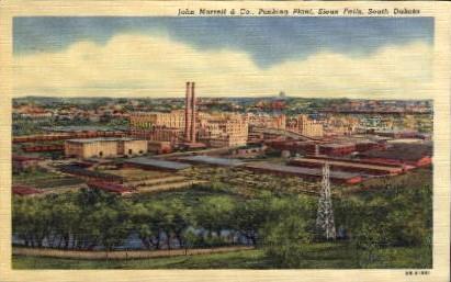 John Morrell and Co., Packing Plant - Sioux Falls, South Dakota SD Postcard