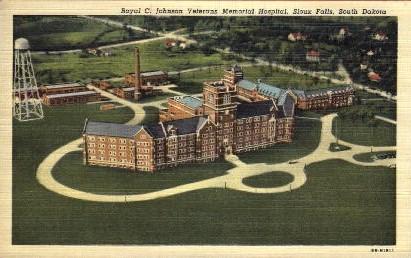 Royal C. Johnson Veterans Memorial Hospital - Sioux Falls, South Dakota SD Postcard