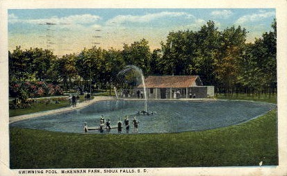 Swimming Pool, McKennan Park - Sioux Falls, South Dakota SD Postcard