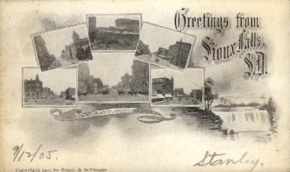 Greetings from  - Sioux Falls, South Dakota SD Postcard