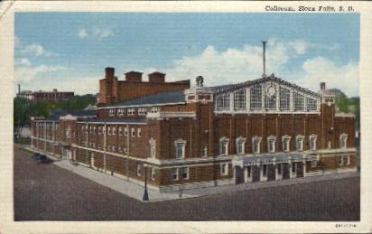 Coliseum - Sioux Falls, South Dakota SD Postcard