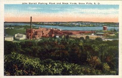 John Morrell Packing Plant  - Sioux Falls, South Dakota SD Postcard