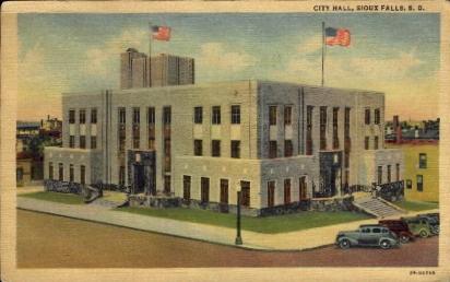 City Hall - Sioux Falls, South Dakota SD Postcard