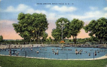 Drake Springs - Sioux Falls, South Dakota SD Postcard