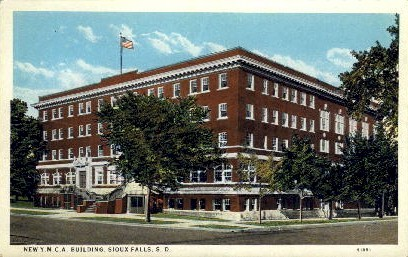 New Y. M. C. A. Building - Sioux Falls, South Dakota SD Postcard