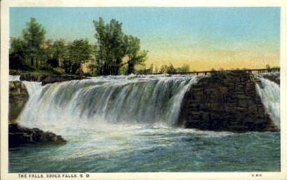The Falls - Sioux Falls, South Dakota SD Postcard