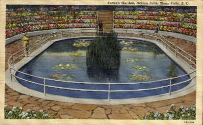 Sunken Garden, Nelson Park - Sioux Falls, South Dakota SD Postcard