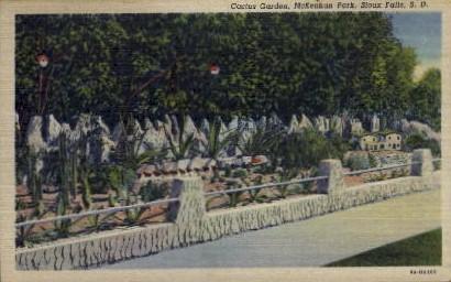 Cactus Garden, McKennan Park - Sioux Falls, South Dakota SD Postcard