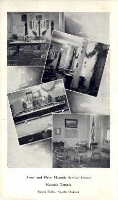 Masonic Temple - Sioux Falls, South Dakota SD Postcard