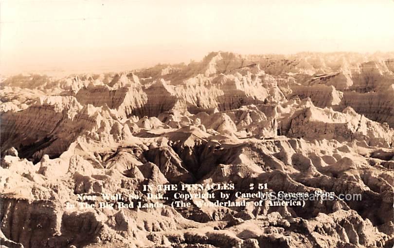In the Pinnacles - Wall, South Dakota SD Postcard