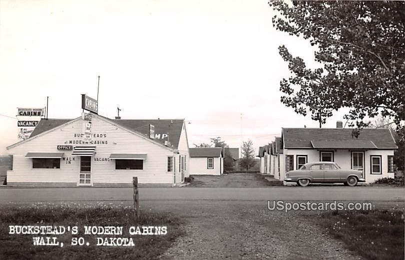 Buckstead's Modern Cabins - Wall, South Dakota SD Postcard