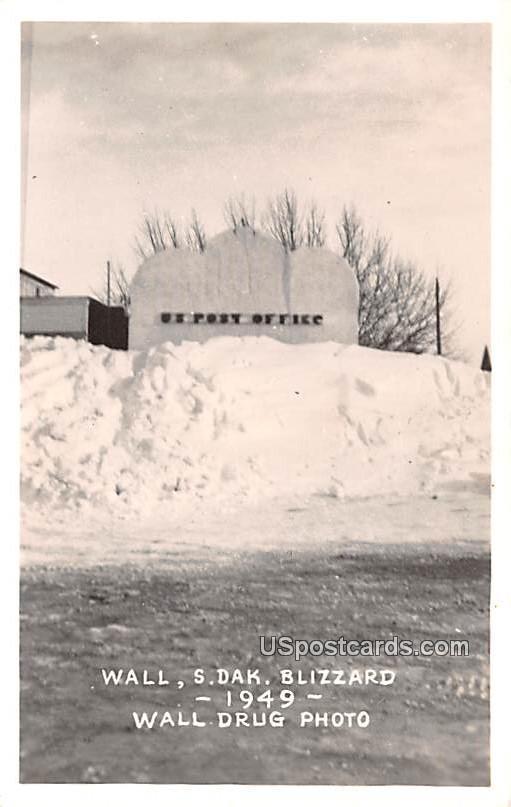 Blizzard 1949 - Wall, South Dakota SD Postcard