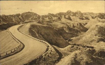 Dillon Pass - Wall, South Dakota SD Postcard
