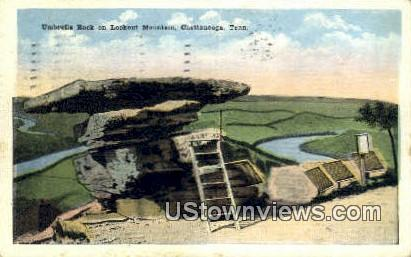 Umbrella Rock - Chattanooga, Tennessee TN Postcard
