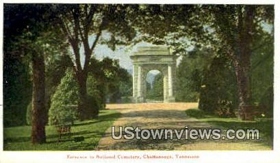 National Cemetery - Chattanooga, Tennessee TN Postcard