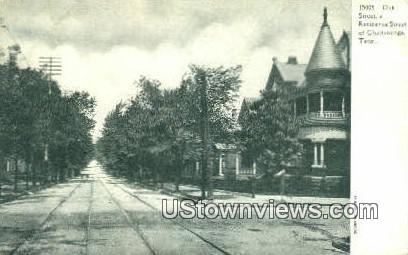 Oak Street - Chattanooga, Tennessee TN Postcard
