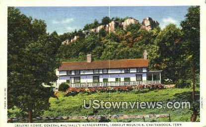 General Walthall's Headquarters - Chattanooga, Tennessee TN Postcard