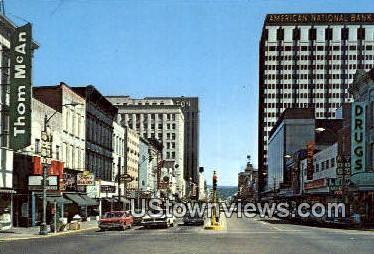 Market Street - Chattanooga, Tennessee TN Postcard
