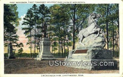 First Wisconsin, Chickamauga Park - Chattanooga, Tennessee TN Postcard