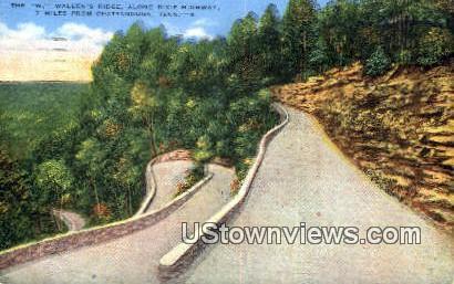 W Walden's Ridge - Chattanooga, Tennessee TN Postcard