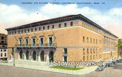 Soldiers' & Sailors Memorial Aud - Chattanooga, Tennessee TN Postcard