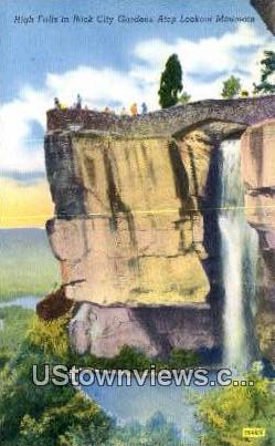 High Falls, Rock City Gardens - Lookout Mountain, Tennessee TN Postcard