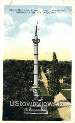Gen Bragg's Headquarters - Chattanooga, Tennessee TN Postcard