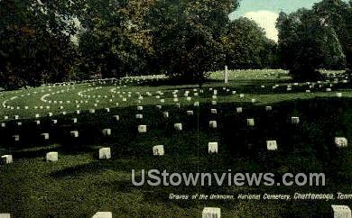 Graves of the Unknown, National Cemetery - Chattanooga, Tennessee TN Postcard