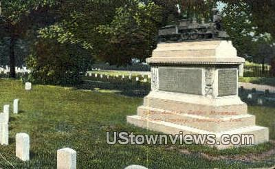 Andrew's Raiders Monument Cemetery - Chattanooga, Tennessee TN Postcard