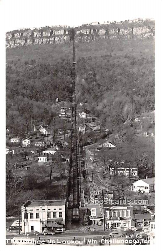 Incline up Lookout Mountain - Chattanooga, Tennessee TN Postcard