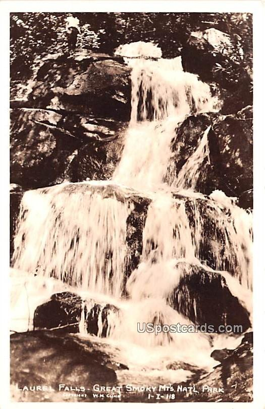 Laurel Falls - Great Smoky Mountains National Park, Tennessee TN Postcard