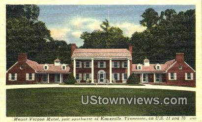 Munt Vernon Motel - Knoxville, Tennessee TN Postcard