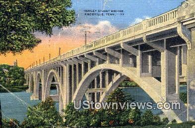 Henley Street Bridge - Knoxville, Tennessee TN Postcard