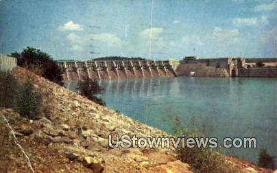 Fort Loudon Dam - Knoxville, Tennessee TN Postcard