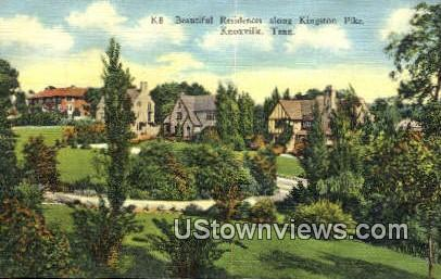 Residences, Kingston Pike - Knoxville, Tennessee TN Postcard