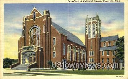 Central Methodist Church - Knoxville, Tennessee TN Postcard