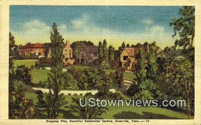 Kingston Pike - Knoxville, Tennessee TN Postcard