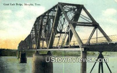 Great Eads Bridge - Memphis, Tennessee TN Postcard