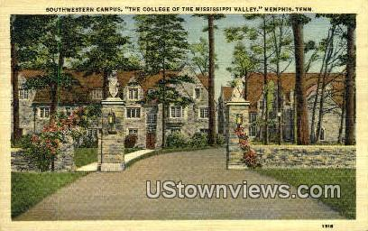 Campus College Of The Mississippi Valley  - Memphis, Tennessee TN Postcard