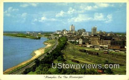 Mississippi River Coastline - Memphis, Tennessee TN Postcard