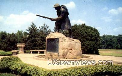 Doughboy Memorial Statue Overton Park - Memphis, Tennessee TN Postcard