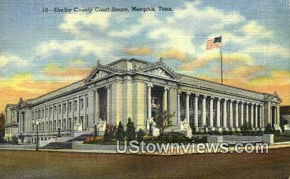 Shelby Court House  - Memphis, Tennessee TN Postcard