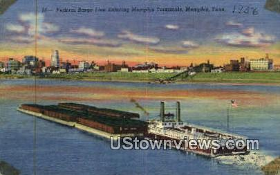 Federal Barge  - Memphis, Tennessee TN Postcard